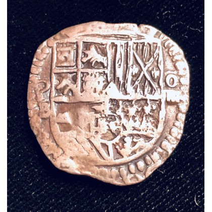 ATOCHA Four Reale Grade One coin. One of the best EVER. 1589-1605. coin#96A-20522