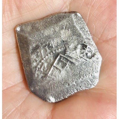 Very rare 1715 fleet 8 reale fully four number dated 1714 coin#KF577-04