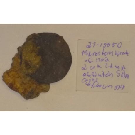 1702 Meerensteyn Shipwreck coin clump # Coin # 1702-1505D