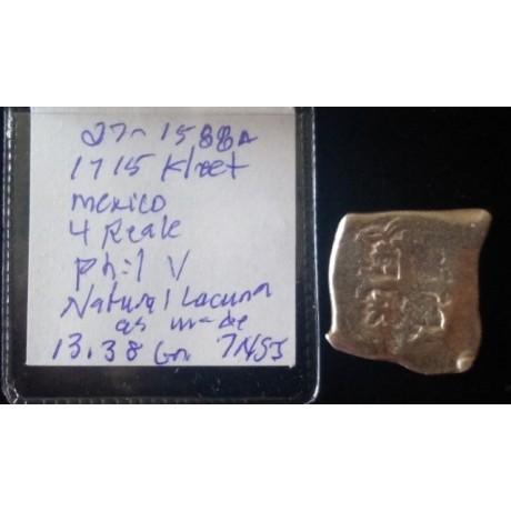 1715 Fleet Mexico City, Mexico, cob 4 reales, Coin # 1715-1588A