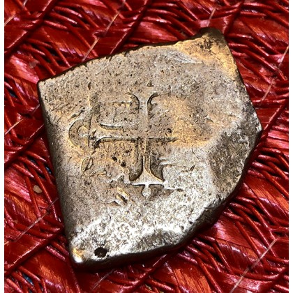 1715 Fleet Silver Eight Reale Coin #1715-3077