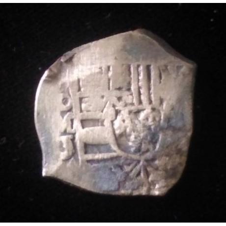1715 Fleet Mexico City, Mexico, cob 4 reales in a 14 kt gold bezel Coin # 1715-324