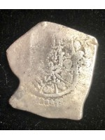 Very unusual shape 1715 fleet eight reale weighing 26.44 grams. Phillip V. Mexico City mint, Coin # 1715-575
