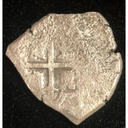Heart shaped 1715 fleet eight reale weighing 24.79 grams. Phillip V. Mexico City Mint, Coin # 1715-929