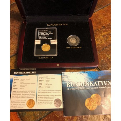 Gold Ducat and Silver Stuiver from the Dutch East Indiaman Akerendam shipwreck of 1725