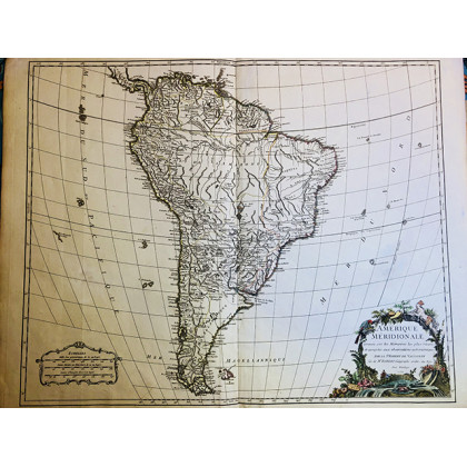 "Antique Map. ""Amerique Meridionale"". 1750"