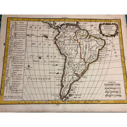 Small map of South America. 1749