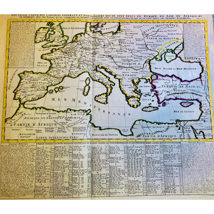 Antique Map of the Mediterranean. 1720