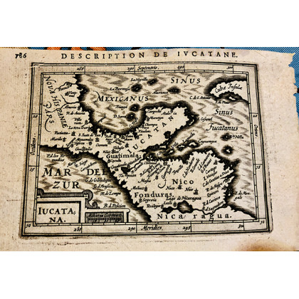 1680 French Map of the Yucatán