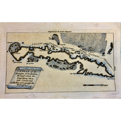 Antique Map of Cuba. 1763