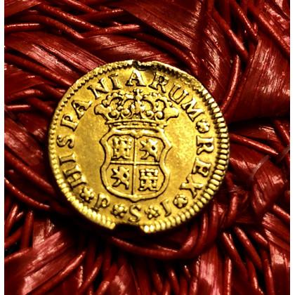 Spanish Gold One-Half Escudo dated 1744