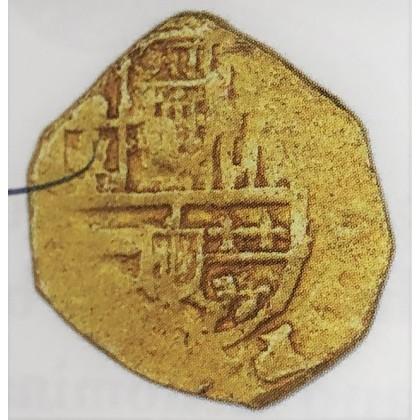 Atocha Period Gold Two Escudo from the 1600s