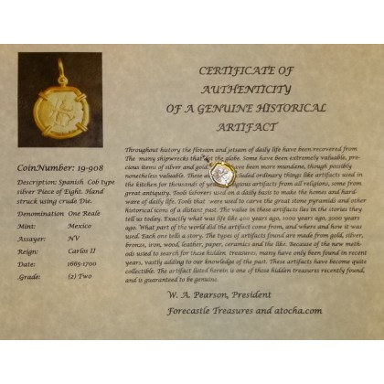 ONE REALE GRADE TWO COIN #19-908