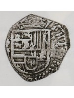 Atocha Silver Two Reale Grade Two Coin dated 1618