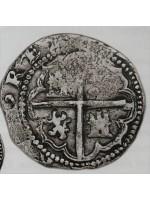 Rare Atocha Silver Two Reale Grade One Coin, B/L Assayer
