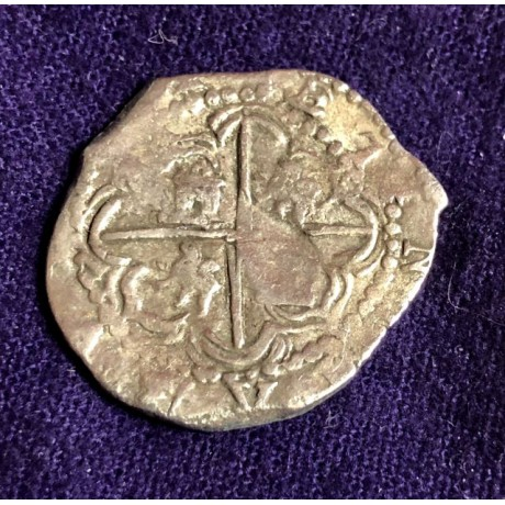 Incredible Potosi Mint Juan Ballesteros Atocha Two Reale Grade One. Late 1500's, Coin # 85A-143247