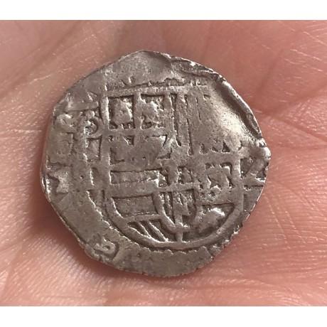 Rare Atocha Silver Two Reale Grade One Coin dated 1619 COA #85A-144470