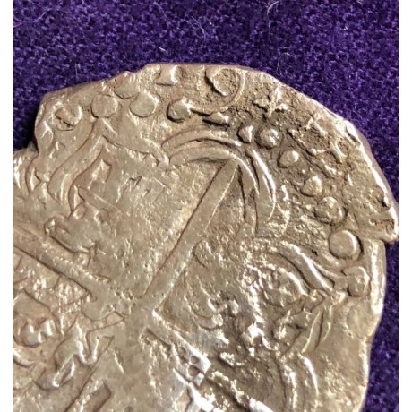 Dated 1619 Atocha 8 Reale Grade One. Rare Reversal coin # 85A-170907