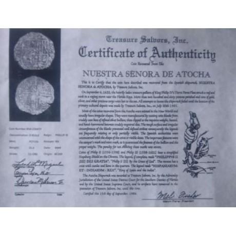 Atocha Eight Reale grade 1, Coin # 85A-220477