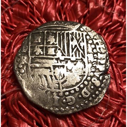 Very Rare Atocha Silver Two Reale Grade One Coin Pendant #85A-rincon