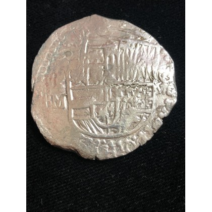 Atocha Silver Eight Reale Grade One Coin Fully Dated 1617