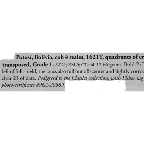 RARE ATOCHA FOUR REALE GRADE ONE DATED 1621.