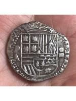 VERY RARE ATOCHA FOUR REALE GRADE ONE, A  ASSAYER. 1589-1593.