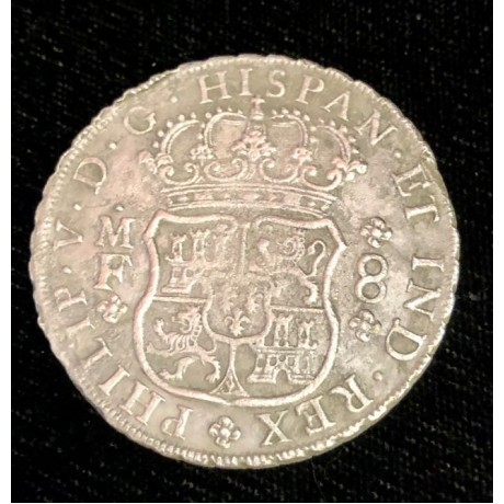 1736 Mexican pillar dollar recovered from the 1739 wreck of the Rooswjjk, Coin # AC10442