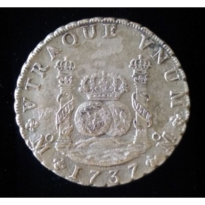 """Rooswijk Shipwreck Mexican Pillar dated eight reale """" dollar """", Coin # AC11327"""