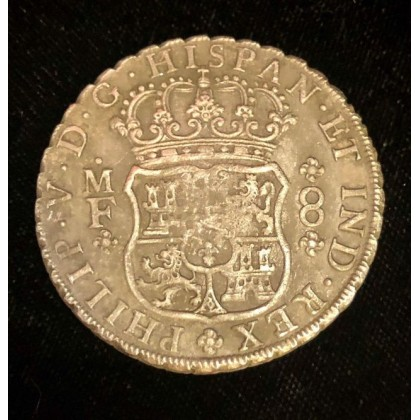 """Rooswijk Shipwreck Mexican Pillar dated eight reale """" dollar """", Coin # AC12-763"""