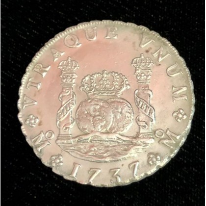 1737 Mexican pillar dollar recovered from the 1739 wreck of the Rooswijk, Coin # AC12344