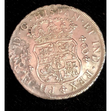 1735 Mexican pillar dollar recover from the 1739 Wreck of the Rooswijk, Coin # AC9217