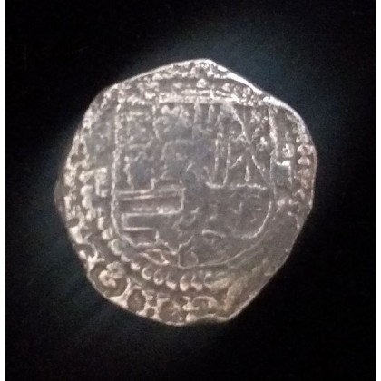 Atocha Silver Two Reale grade 1 from the famous Napkin Deal, Coin # CH4-0012-1