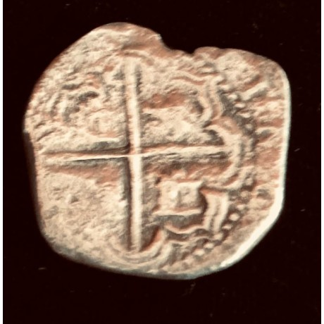 Atocha Two Reale Grade Two from the Famous Napkin Deal.  Minted Circa 1613, Coin # CH4-21-1209