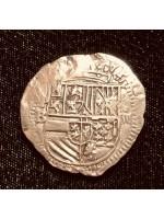 Incredible Atocha Four Reale Grade One. Potosi/Ballesteros circa 1586. Full weight 13.5 Grams. Rare, Coin # CH4-41-1107