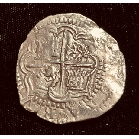 Incredible Atocha Four Reale Grade One. Potosi/Ballesteros circa 1586. Full weight 13.5 Grams. Rare, Coin # CH4-41-1107