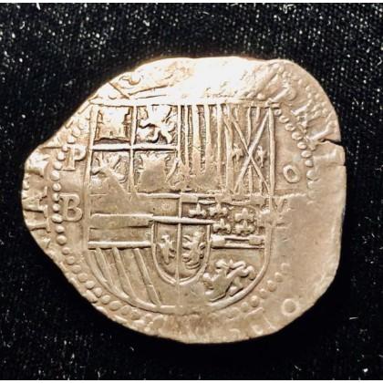 Rare Atocha Grade One Eight Reale. Potosi Ballesteros. Circa 1586, Coin # CH4-81-1102