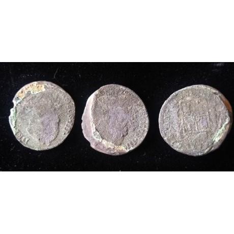 El Cazador wreck of 1784, 4 coin clump Coin of * Reales. From Original Salvor with Original COA.