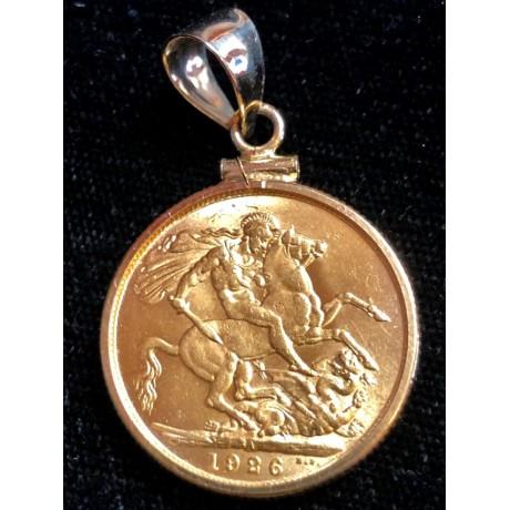 1926 British Gold Sovereign Coin, Coin # GC20-688