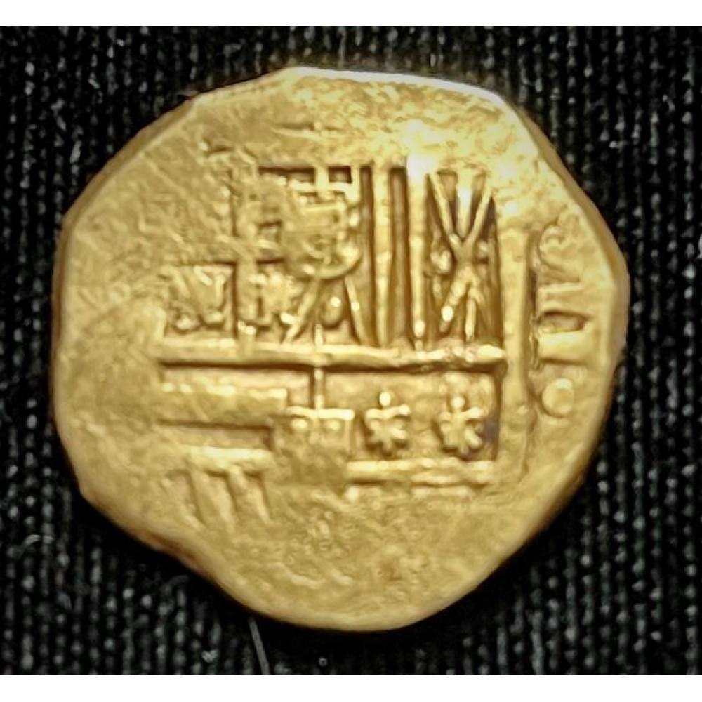 1715 Fleet gold two escudo #JM371
