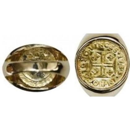 Portugal (Lisbon mint), gold 400 reis, Joao V, 1733, Coin # SC1404