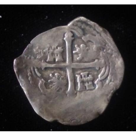 Mexico City silver cob 4 reales 1598-1621. Atocha Period, Coin # SC27-1586