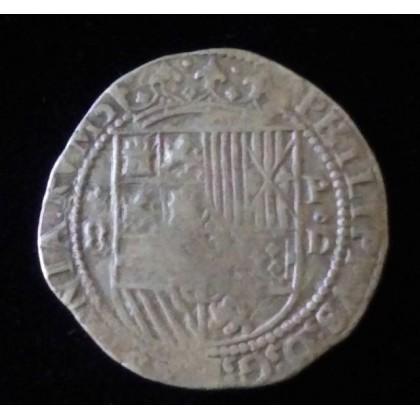 EXTREMELY  RARE Lima, Peru, cob 8 reales, Diego de La Torre. 1577-1588.  Coin # SC27-504